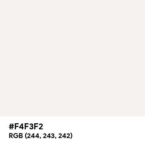 Anti-Flash White (Hex code: F4F3F2) Thumbnail
