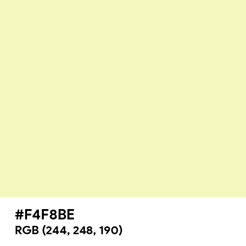 Blond (Hex code: F4F8BE) Thumbnail