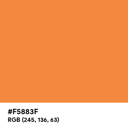 Irish Orange (Hex code: F5883F) Thumbnail