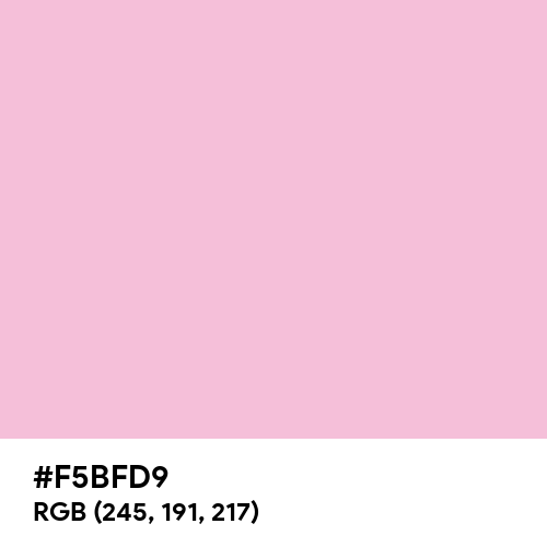Pale Rose (Hex code: F5BFD9) Thumbnail