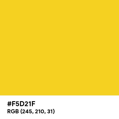 Metallic Yellow (Hex code: F5D21F) Thumbnail