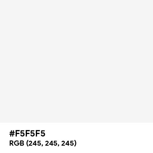 White Smoke (Hex code: F5F5F5) Thumbnail