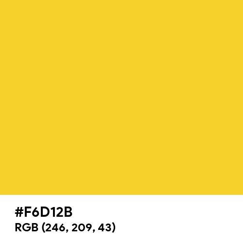 Gold Leaf (Hex code: F6D12B) Thumbnail