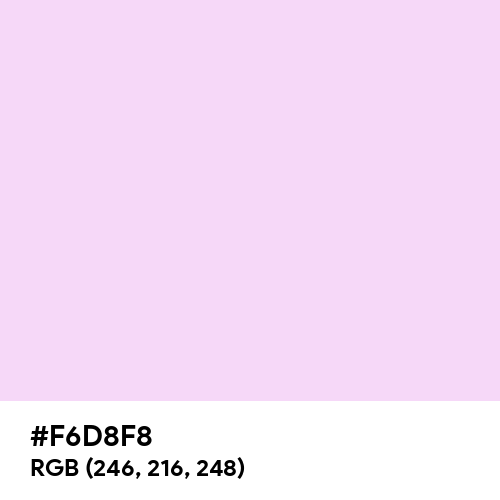 Pink Lace (Hex code: F6D8F8) Thumbnail