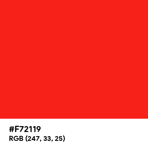 Neon Red (Hex code: F72119) Thumbnail