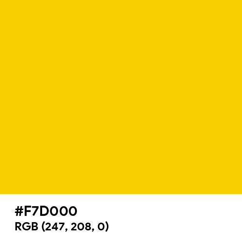 Empire Yellow (Hex code: F7D000) Thumbnail