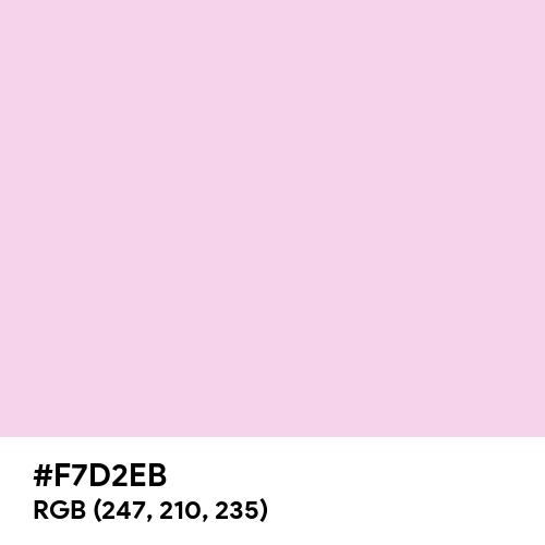 Classic Rose (Hex code: F7D2EB) Thumbnail