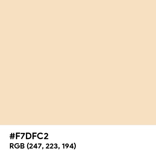Pastel Peach (Hex code: F7DFC2) Thumbnail