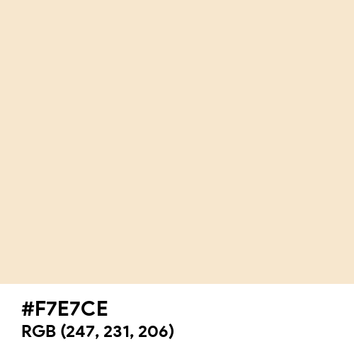 Champagne (Hex code: F7E7CE) Thumbnail