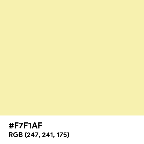 Light Yellow (Traditional) (Hex code: F7F1AF) Thumbnail