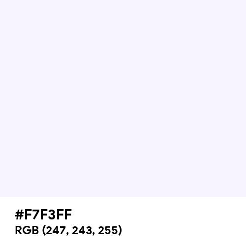 Magnolia (Hex code: F7F3FF) Thumbnail