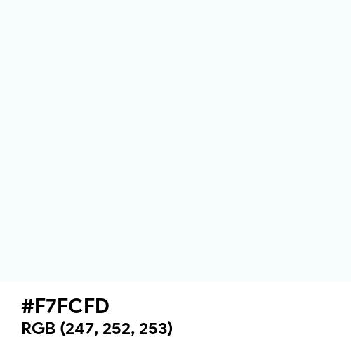 Refresh White (Hex code: F7FCFD) Thumbnail