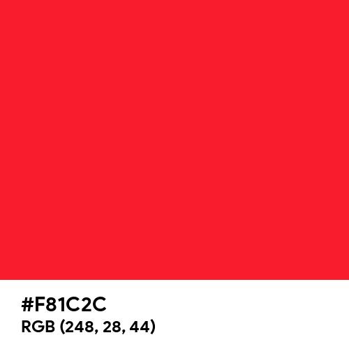 Red CMYK (Hex code: F81C2C) Thumbnail