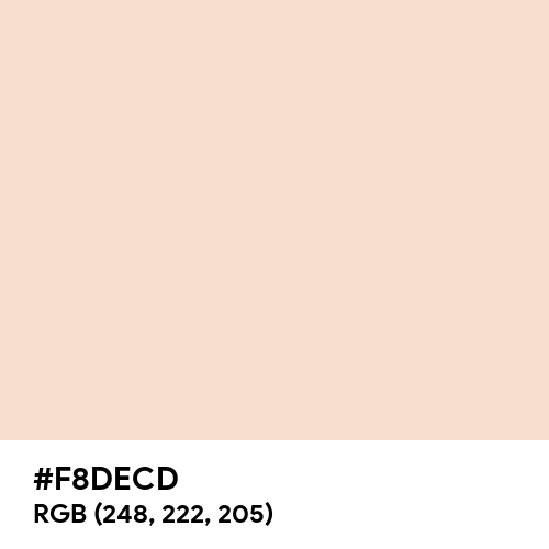 Champagne Pink (Hex code: F8DECD) Thumbnail