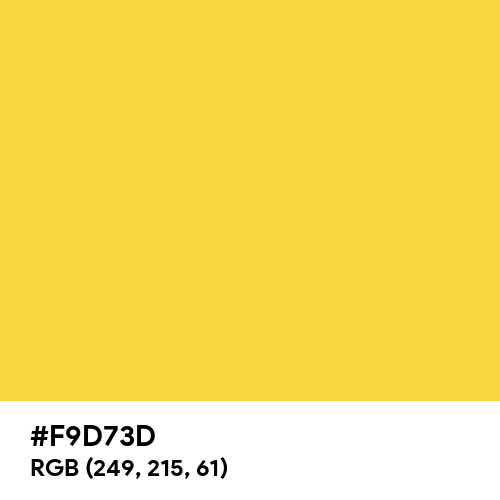 Spanish Yellow (Hex code: F9D73D) Thumbnail