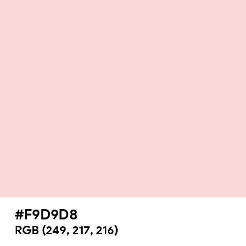Soft Pale Pink (Hex code: F9D9D8) Thumbnail