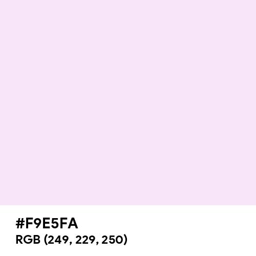 Pink Lace (Hex code: F9E5FA) Thumbnail