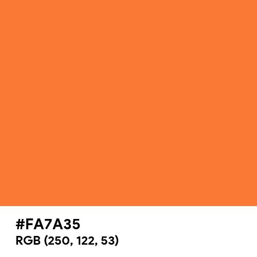 Orange Peel (Pantone) (Hex code: FA7A35) Thumbnail