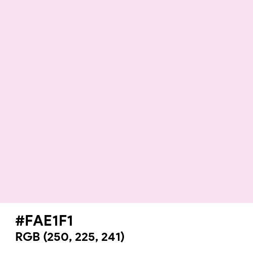 Pink Lace (Hex code: FAE1F1) Thumbnail