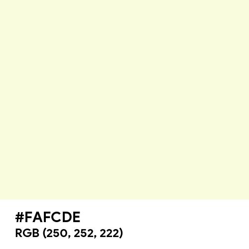 Light Yellow (Hex code: FAFCDE) Thumbnail