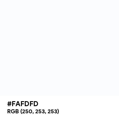 White Base (Hex code: FAFDFD) Thumbnail