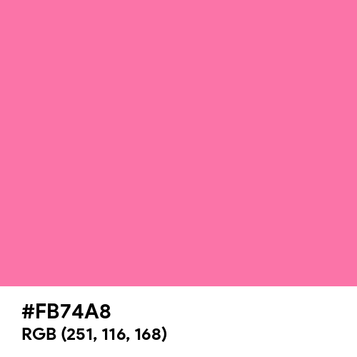 Happy Pink (Hex code: FB74A8) Thumbnail