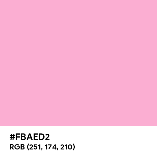 Lavender Pink (Hex code: FBAED2) Thumbnail