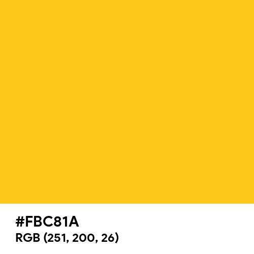 Gold Bar (Hex code: FBC81A) Thumbnail