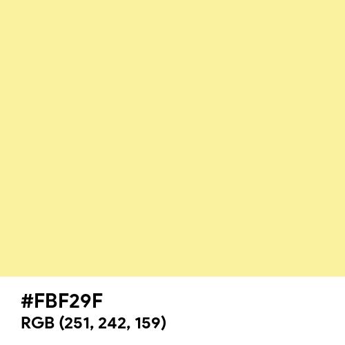 Lemon Yellow (Crayola) (Hex code: FBF29F) Thumbnail