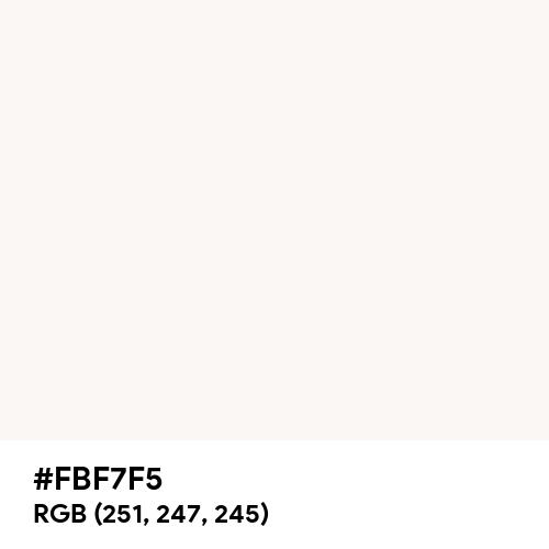 Chalk White (Hex code: FBF7F5) Thumbnail