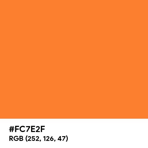 Princeton Orange (Hex code: FC7E2F) Thumbnail