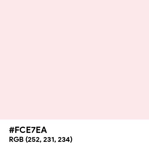 Seashell Pink (Hex code: FCE7EA) Thumbnail