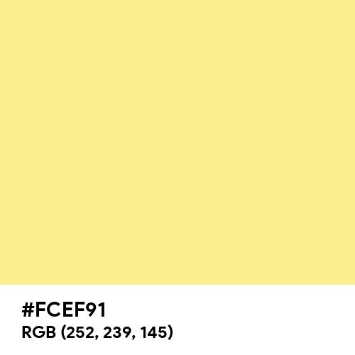 Baby Yellow (Hex code: FCEF91) Thumbnail