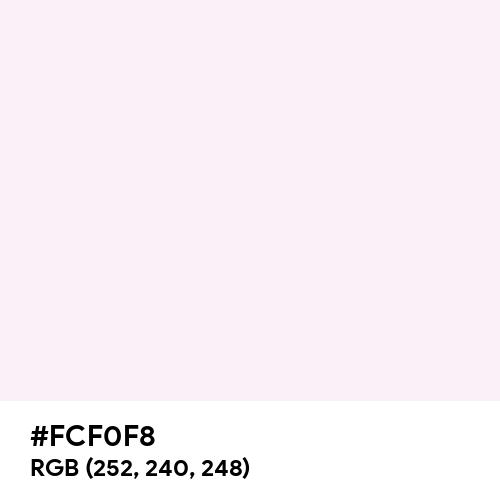 Lavender Blush (Hex code: FCF0F8) Thumbnail