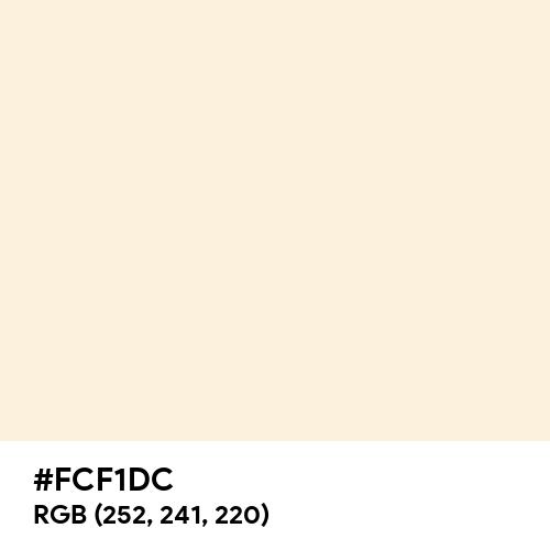 Pastel Champagne (Hex code: FCF1DC) Thumbnail