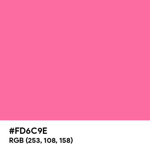 French Pink (Hex code: FD6C9E) Thumbnail