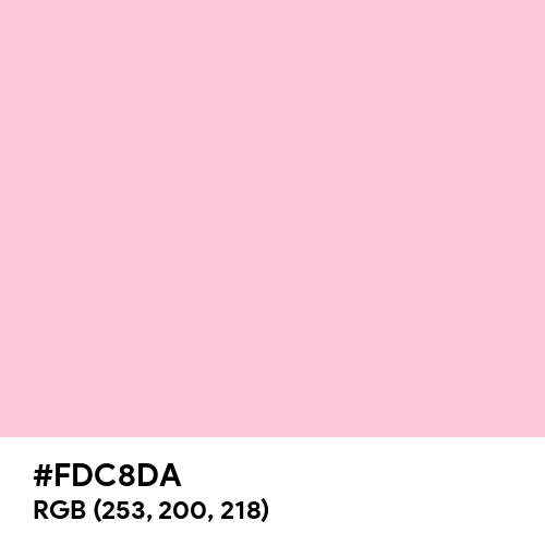 Bubblegum Pink (Hex code: FDC8DA) Thumbnail