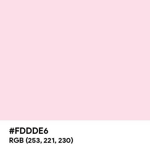 Piggy Pink (Hex code: FDDDE6) Thumbnail