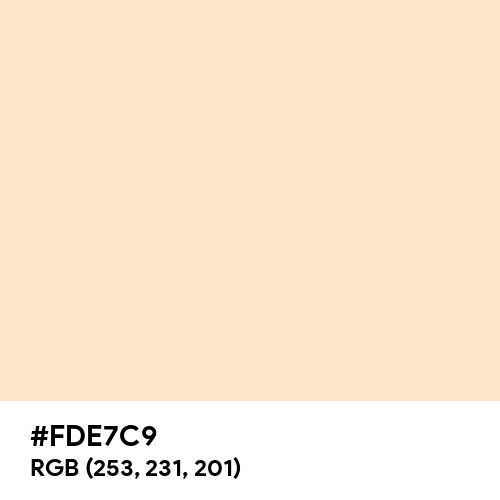 Soft Peach (Hex code: FDE7C9) Thumbnail