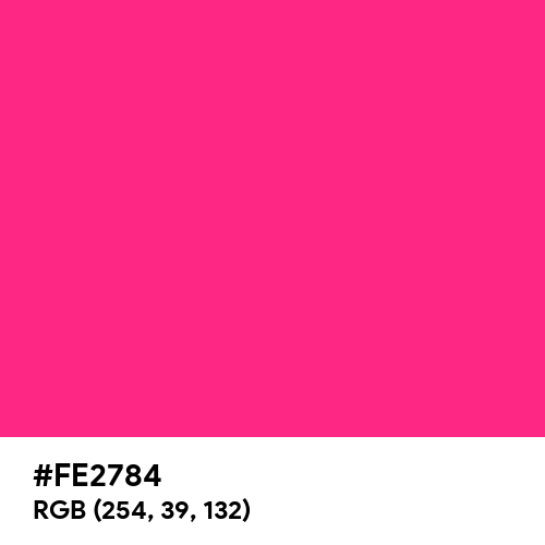 Electric Pink (Hex code: FE2784) Thumbnail