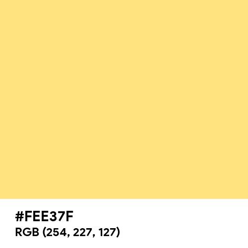 Luminous Yellow (Hex code: FEE37F) Thumbnail