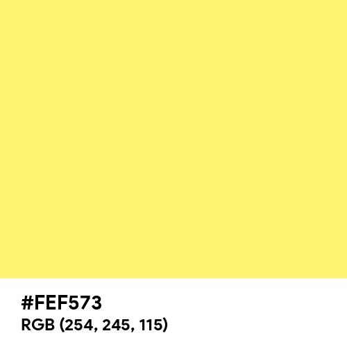 Sunny (Hex code: FEF573) Thumbnail