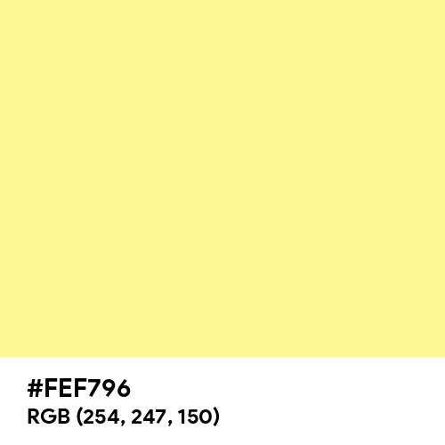 Pastel Yellow (Hex code: FEF796) Thumbnail