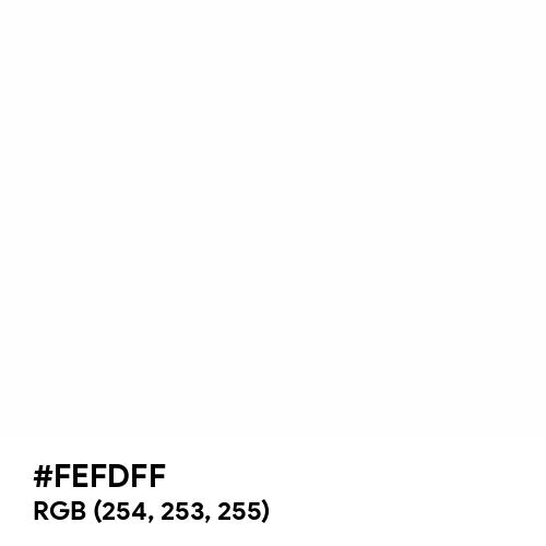 White (Hex code: FEFDFF) Thumbnail