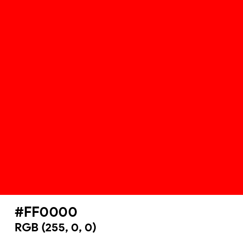 Pure Red (Hex code: FF0000) Thumbnail