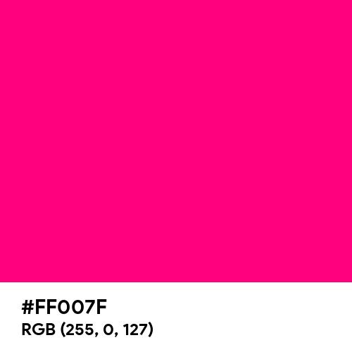 Bright Pink (Hex code: FF007F) Thumbnail