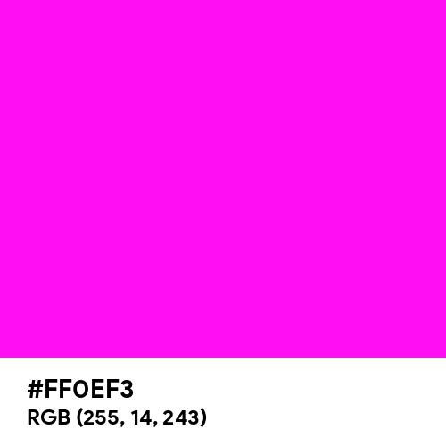 Neon Fuchsia (Hex code: FF0EF3) Thumbnail