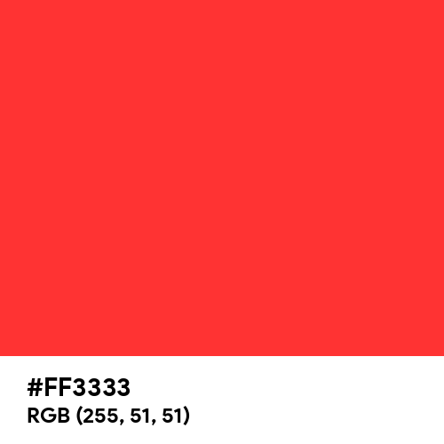 Light Red (PWG) (Hex code: FF3333) Thumbnail