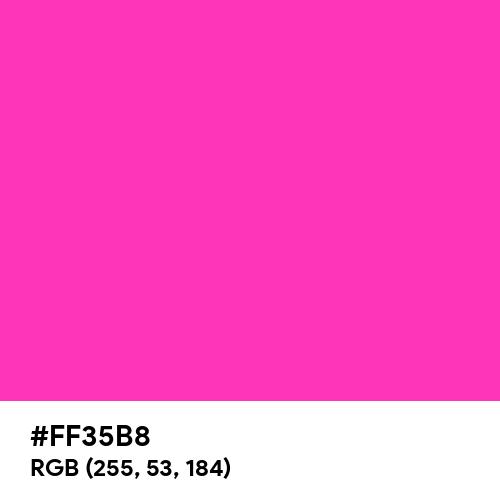 Glossy Pink (Hex code: FF35B8) Thumbnail