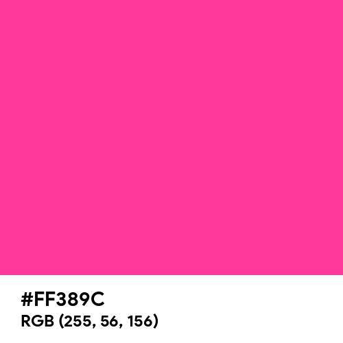 Fluorescent Hot Pink (Hex code: FF389C) Thumbnail